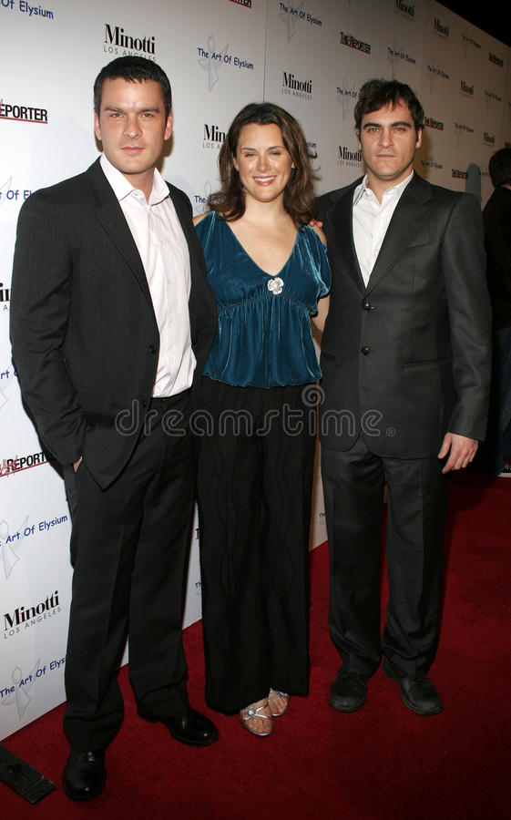 Balthazar Getty, Jennifer Howell y Joaquin Phoenix fotos de archivo