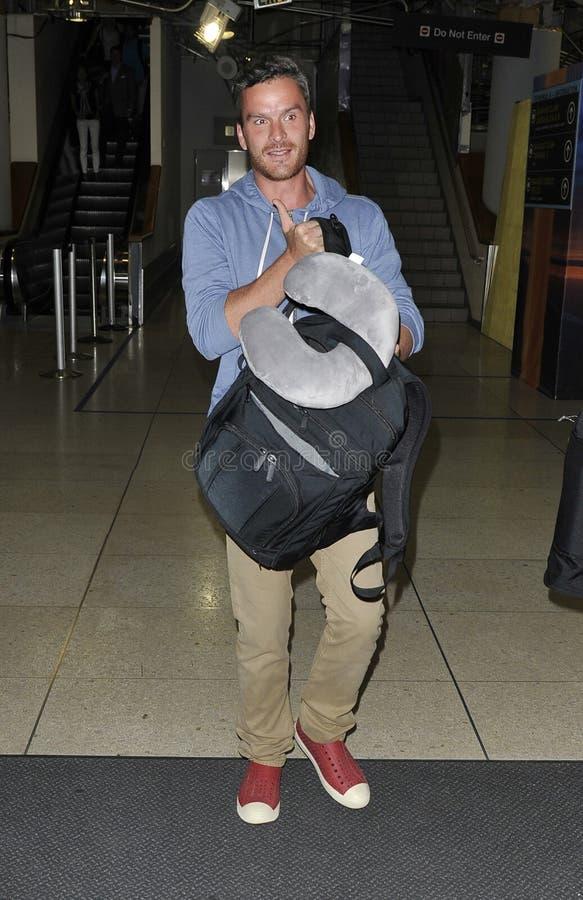 Balthazar Getty am LOCKEREN Flughafen stockfotos