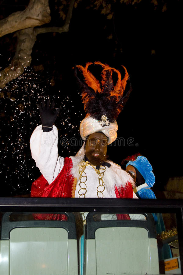 Balthazar King an der biblischen Weiseparade stockbild