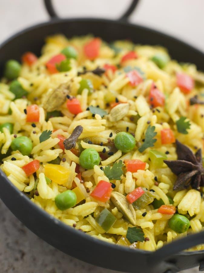 balti盘pilau米蔬菜 免版税图库摄影