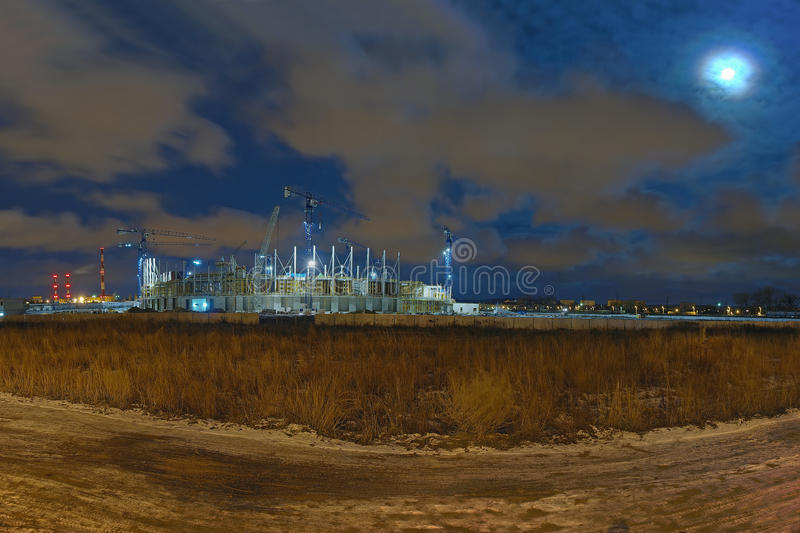 Download Baltic Arena Stadium stock image. Image of construction - 12471529