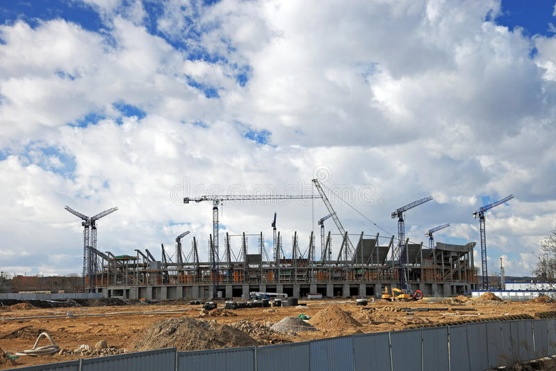 Download Baltic Arena Stadium stock image. Image of construction - 13431747