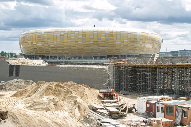 Download Baltic Arena Stadium. editorial photography. Image of building - 25077552