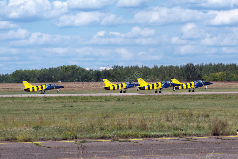 Download Baltic Bees editorial stock image. Image of clouds, runway - 21950959
