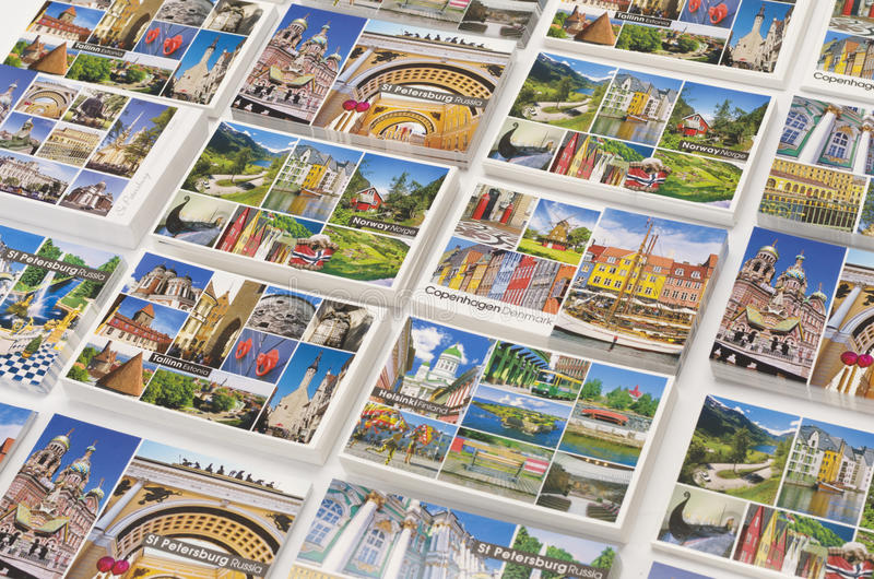 Baltic cruise ports of call picture postcards royalty free stock photography