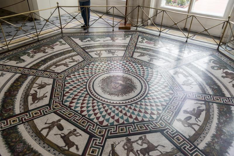 Floor mosaic the Pavilion Hall The Hermitage St Petersburg Russia. 