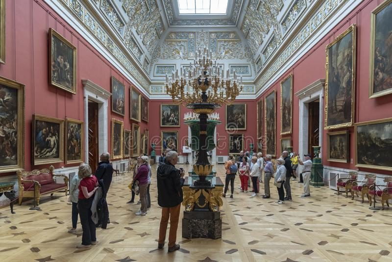 Large Italian Skylight Hall in The Hermitage St Petersburg Russia. 