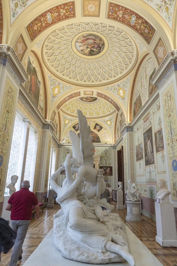 Gallery of the history of Ancient Paining in The Hermitage St Petersburg Russia. 