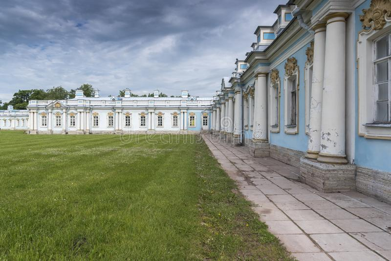 Former servants quarters in Catherine Palace St Petersburg Russia. Baroque. 18th-century palace with large grounds where Russian royal family spent their royalty free stock image