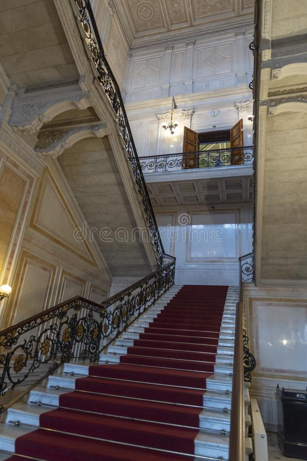 Staircase in The Hermitage St Petersburg Russia. 