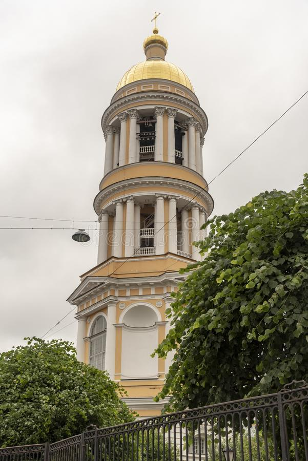 Local Russian Orthodox church in St Petersburg Russia royalty free stock photos