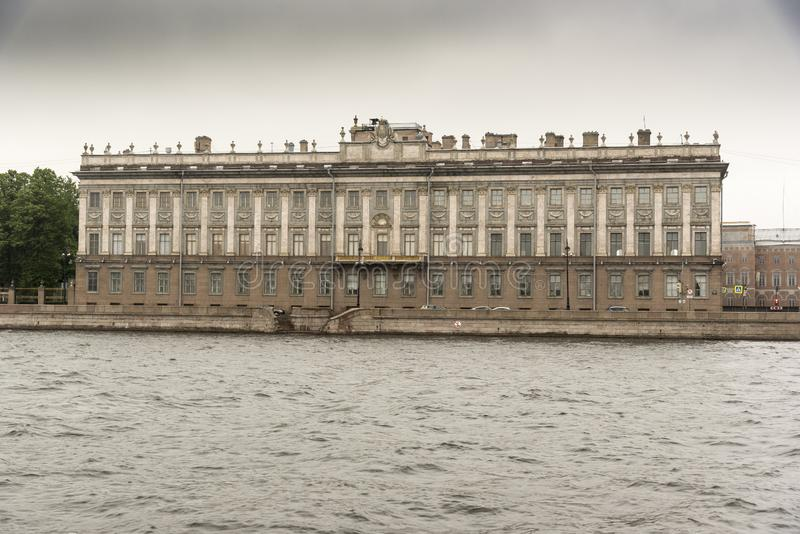 Marble Palace from the Neva River St Petersburg. State museum opened in 1898 showcasing a cross-section of Russian art, from paintings to sculpture stock image