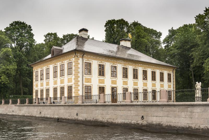 Summer Palace of Peter the Great, St Petersburg. Built in 1711–1712, this emperor's mansion is now a museum with original art, clothing & royalty free stock photography