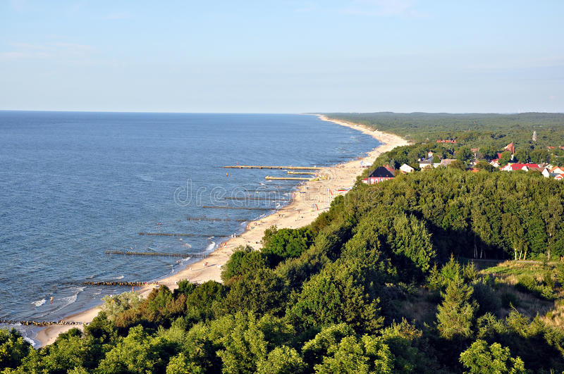 Baltic Sea. In Poland -birds eye view stock images