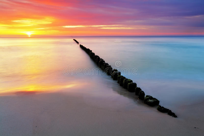 Download Beach In Poland - Baltic Sea At Sunrise Stock Image - Image: 30267609