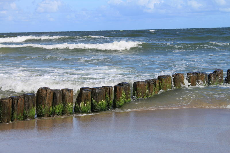 Baltic sea breakwater royalty free stock images
