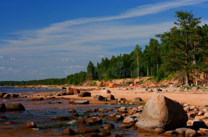 Baltic sea coast stock image