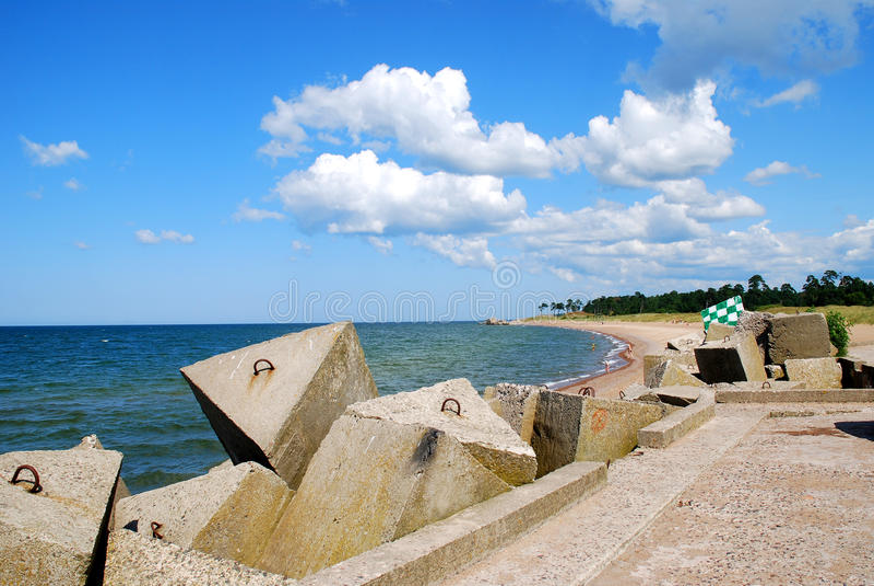 Baltic Sea coastline royalty free stock photo