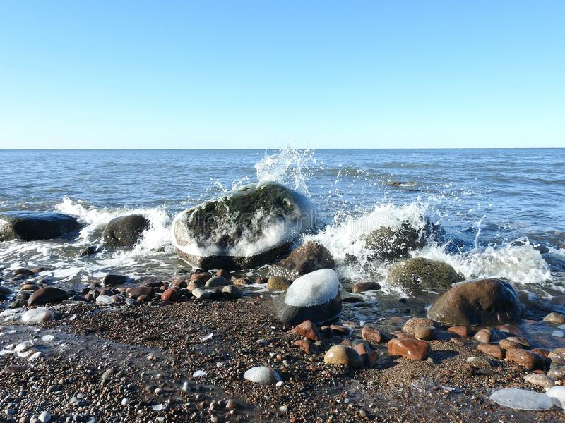 Baltic sea in early morning, Lithuania stock photo