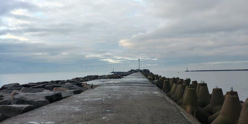 Baltic Sea Pear Winter Rain. Baltic Sea stock photography