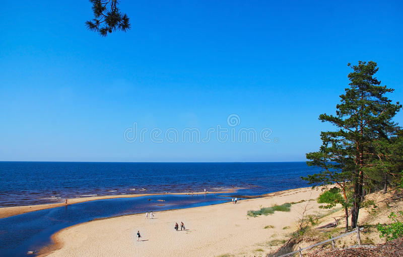 Baltic Sea and river stock image