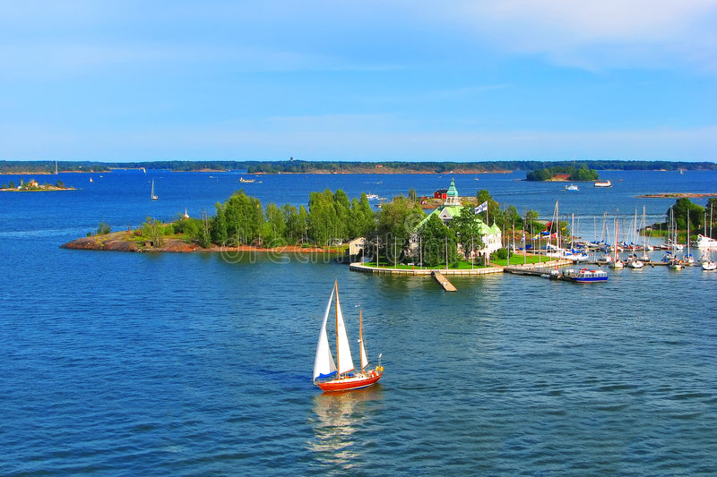 Baltic sea in summer stock images