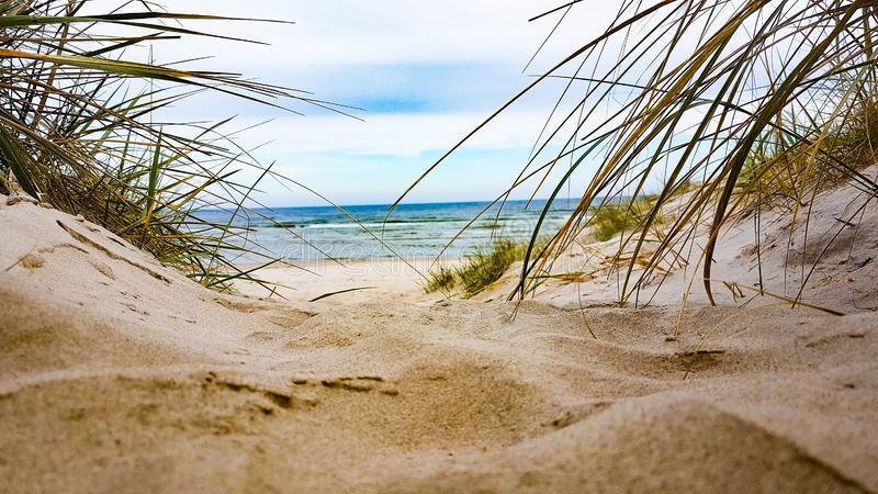 Baltic Sea view in autumn stock photography