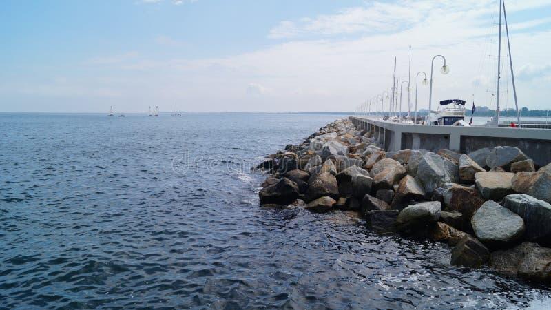 The Baltic Sea, yachts royalty free stock photo
