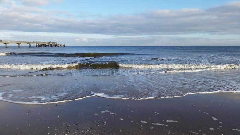 Baltic Seaside And Sea Waves royalty free stock photography