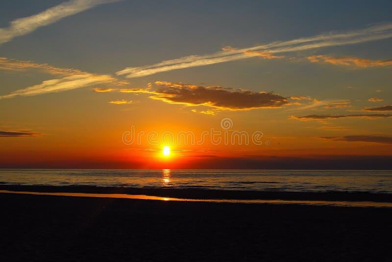 Baltic sunset stock photo