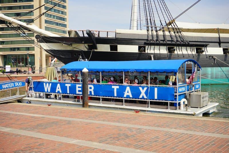 Baltimore śródmieścia wody taxi zdjęcia stock