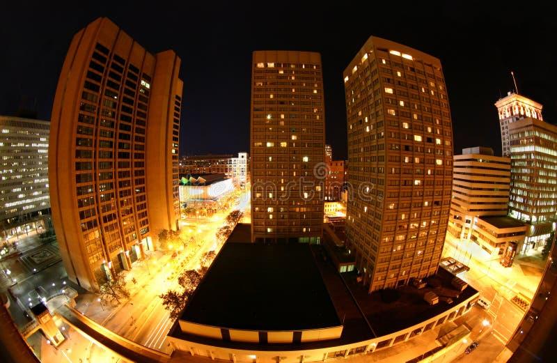 Baltimore bij nacht stock fotografie