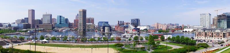 Baltimore de stad in royalty-vrije stock afbeeldingen