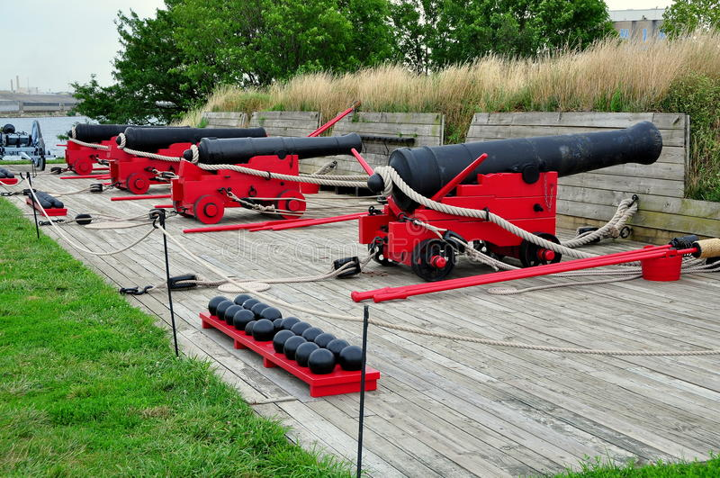 Baltimore, DM : Canons au fort McHenry photo stock