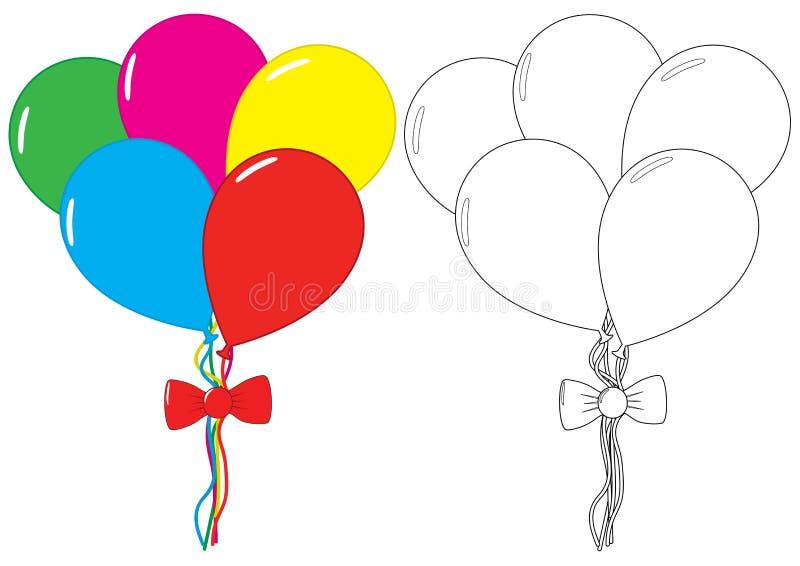 baltimore för färgläggningdiagram för bok färgrik illustration Fritidsaktivitet för barn vektor royaltyfri illustrationer