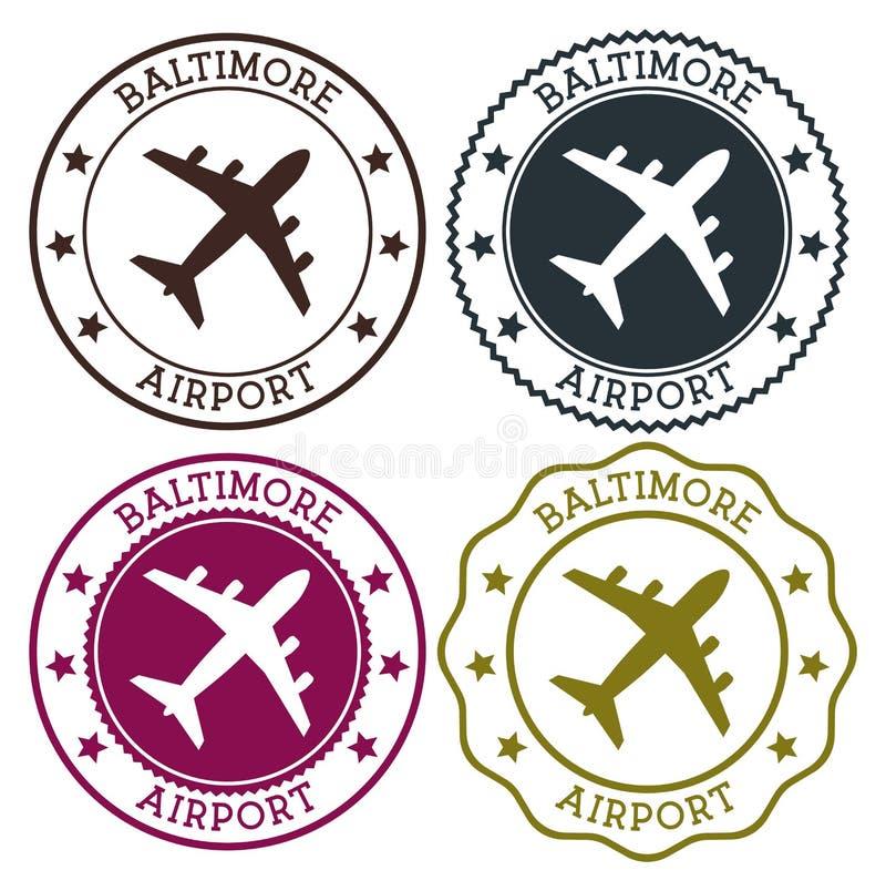 Baltimore-Flughafen Baltimore-Flughafenlogo stock abbildung