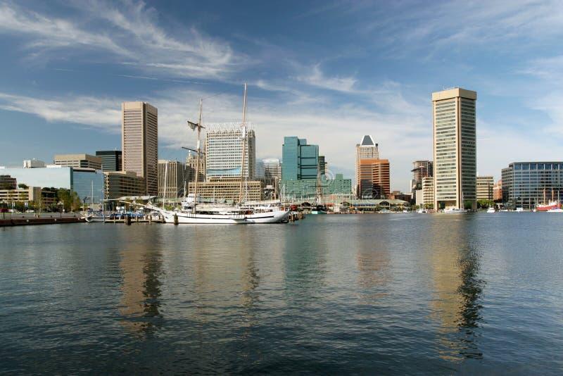Baltimore-Hafen am Sommer lizenzfreie stockfotografie