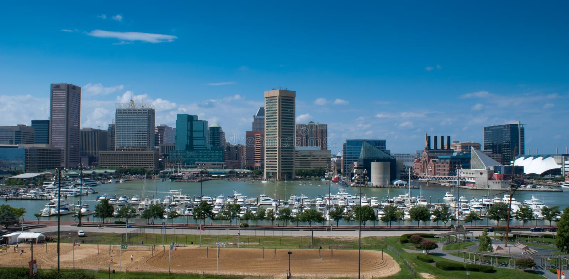 Baltimore Inner Harbor Stock Photography