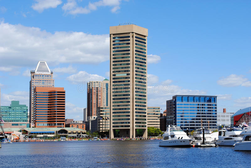Baltimore Inner Harbor Stock Photo