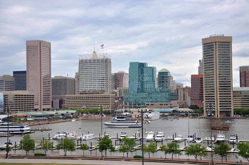 Download Baltimore Inner Harbor Skyline Royalty Free Stock Images - Image: 24840389