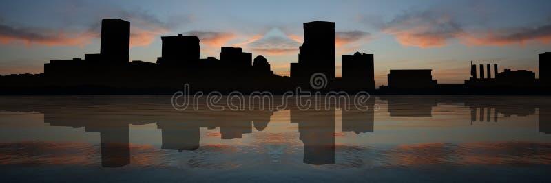 Baltimore-innerer Hafen am Sonnenuntergang lizenzfreie abbildung