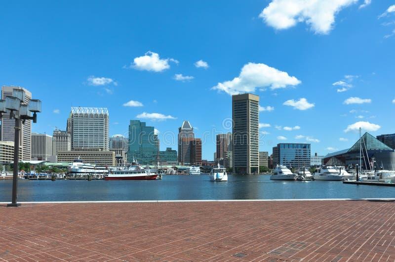 Baltimore inre hamn, Maryland royaltyfri foto