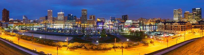 Baltimore la nuit image stock