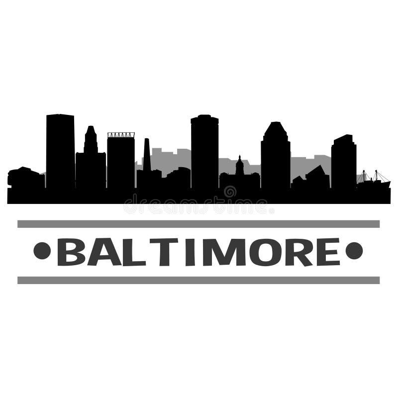 Baltimore linii horyzontu miasta ikony sztuki Wektorowy projekt ilustracja wektor