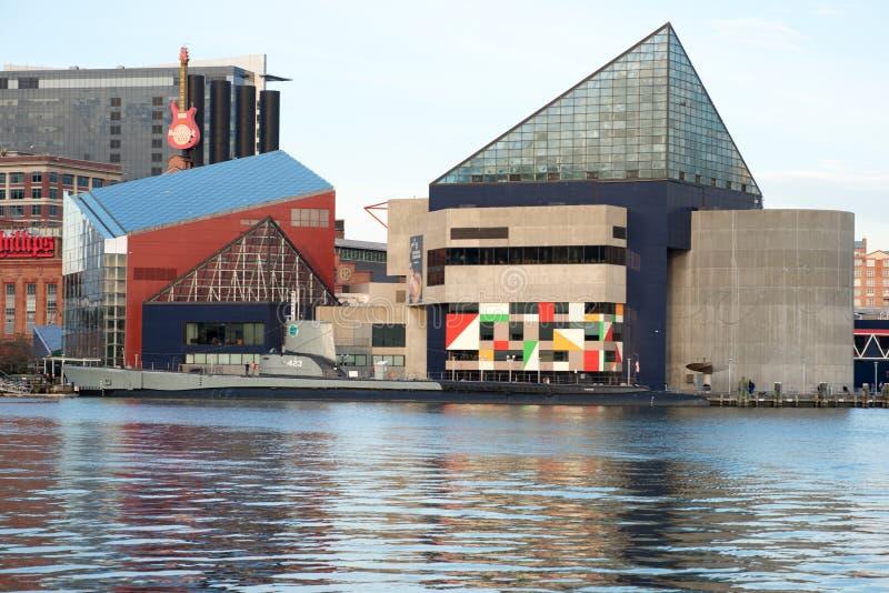 BALTIMORE, MARYLAND - 18 DE FEBRERO: El puerto interno en Baltimore, Maryland, los E.E.U.U. el 18 de febrero de 2017 fotografía de archivo libre de regalías