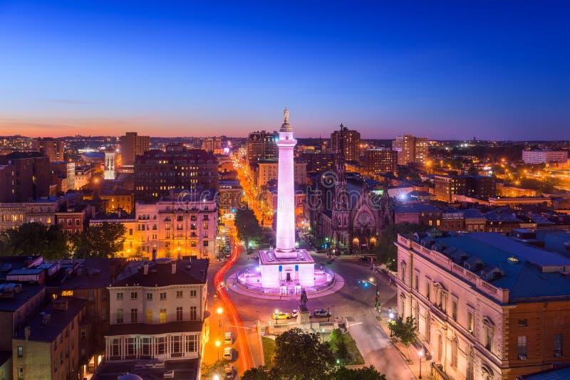 Baltimore Maryland på Vernon Place royaltyfri foto