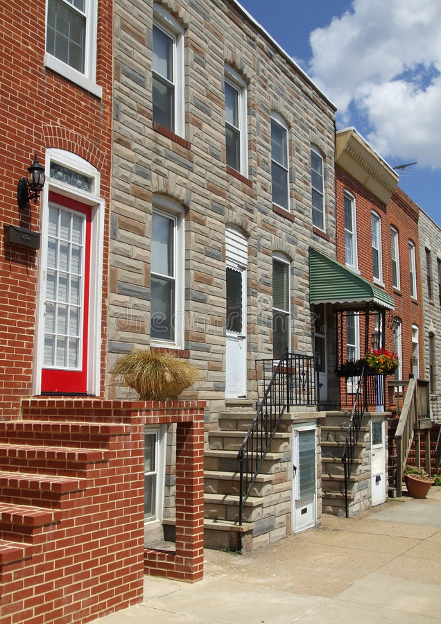Baltimore Maryland Town Houses stock photos