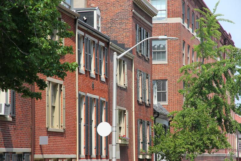 Baltimore. Maryland in the United States. Mt Vernon Historic District stock image