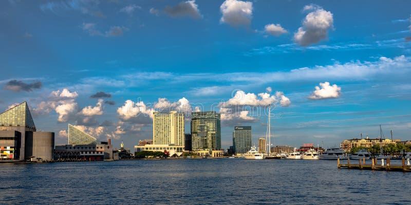 Inner Harbor skyline banner stock photos