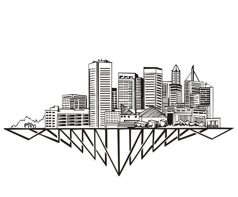Baltimore, MD-Skyline vektor abbildung
